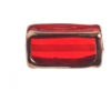 Glass Lamp Bead Rectangle 18x10x6mm Siam Ruby/Bronze
